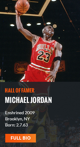 Read the bio for Hall of Famer Michael Jordan