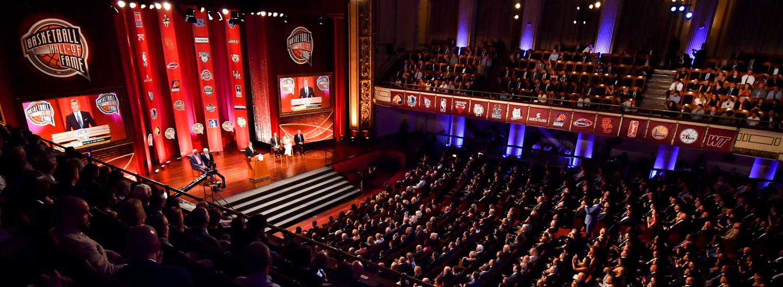 The Naismith Memorial Basketball Hall Of Fame Enshrinement
